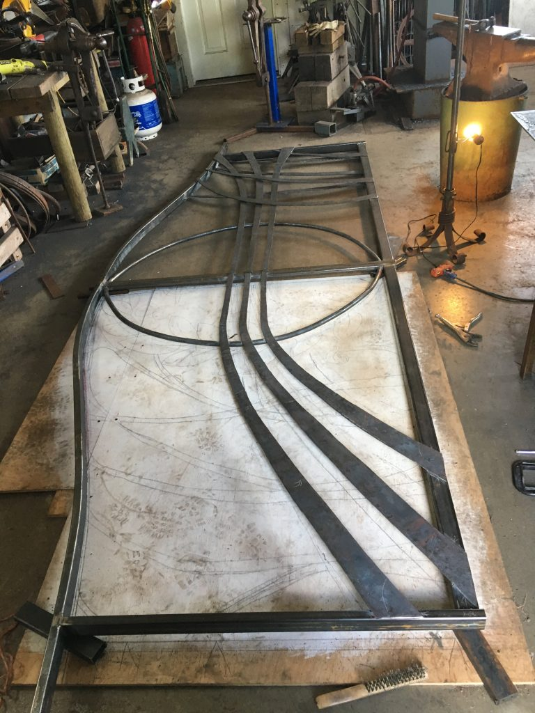 11. Medallion Gate wind forms attached, final shaping still needed.
