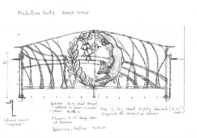 2. Medallion gate Shop drawing House view